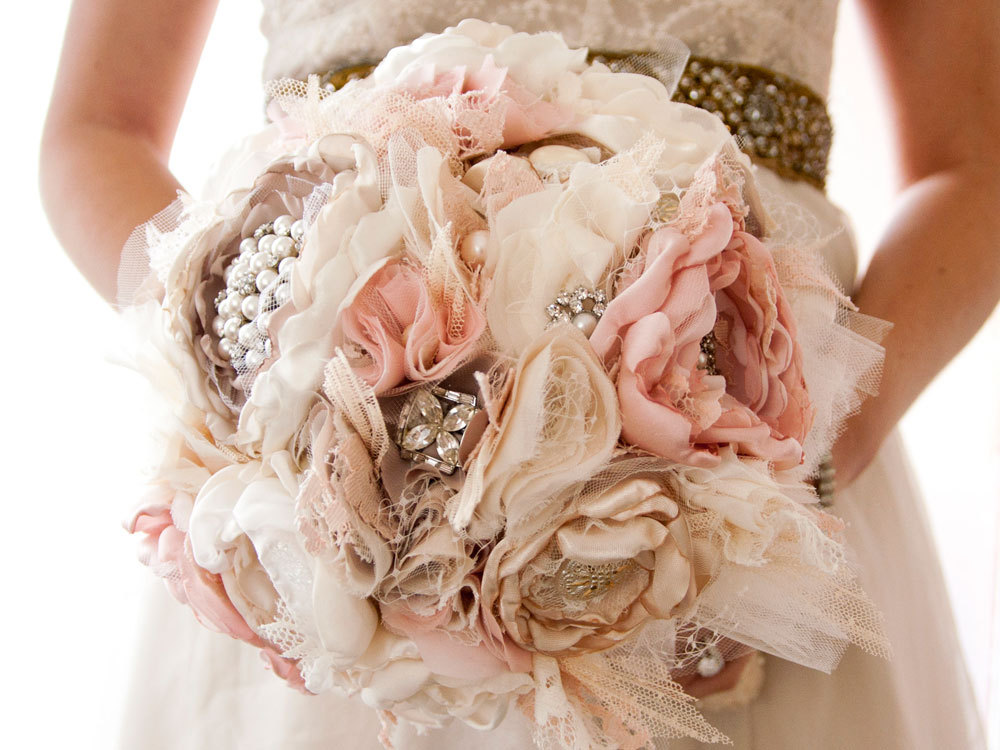 Unique Bridal Flower Bouquets : Unique wedding bouquets without flowers undercover live