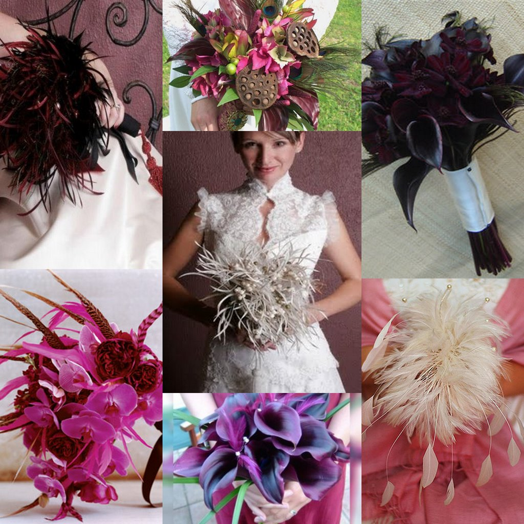 Diy Feather Bouquets Weddings: Unique Wedding Bouquets Without Flowers