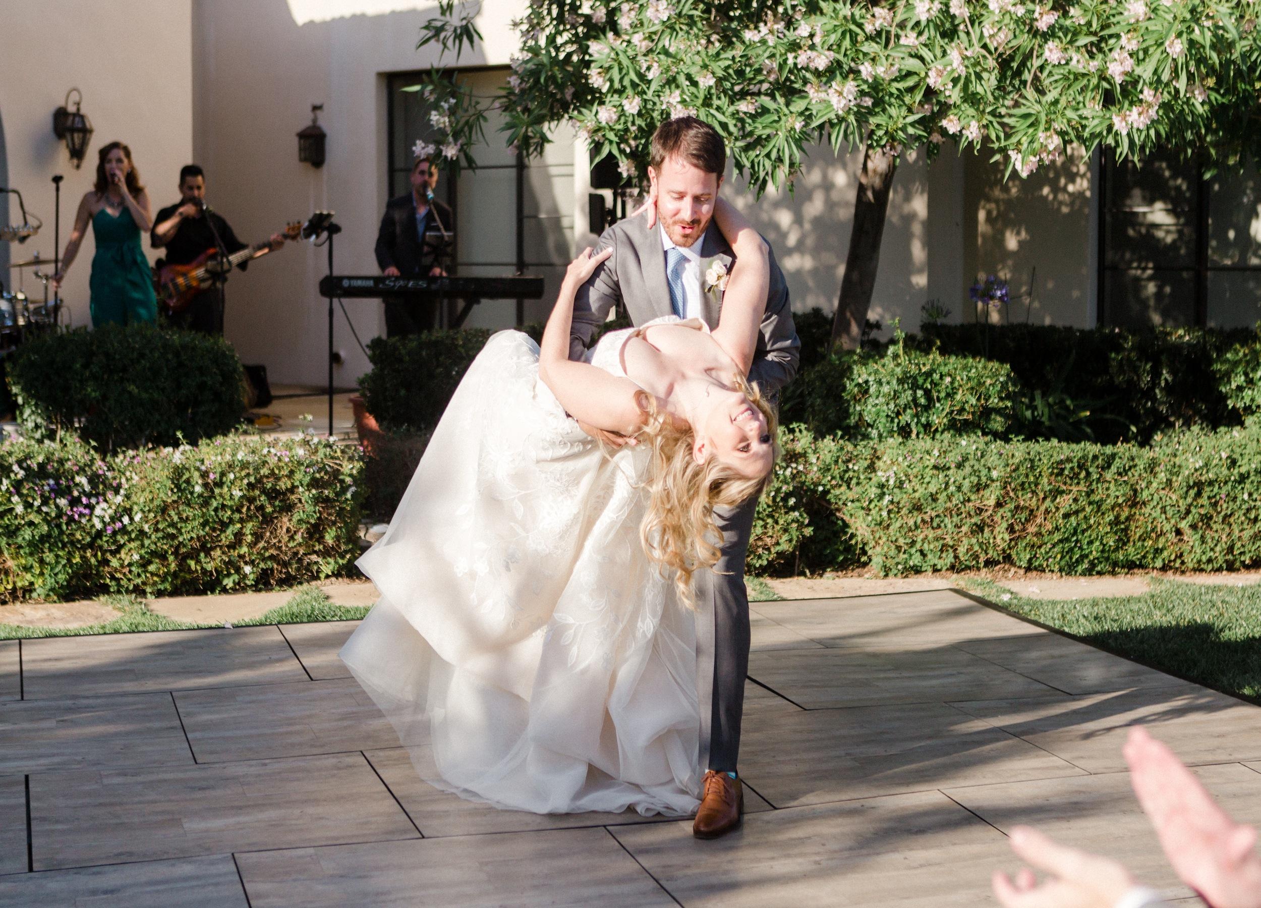 outdoor private estate wedding