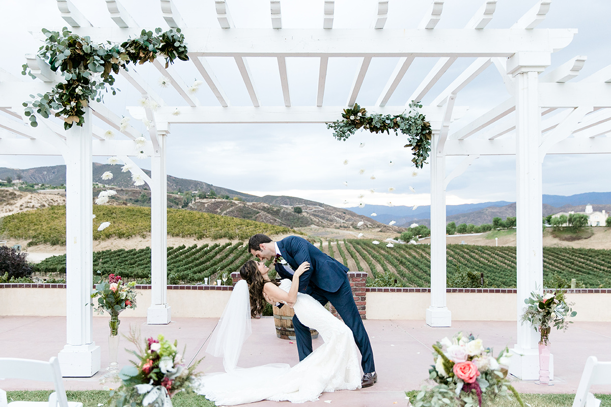 Iliana and Reeds Leoness Cellars Temecula Winery Wedding Entertainment Done Right!