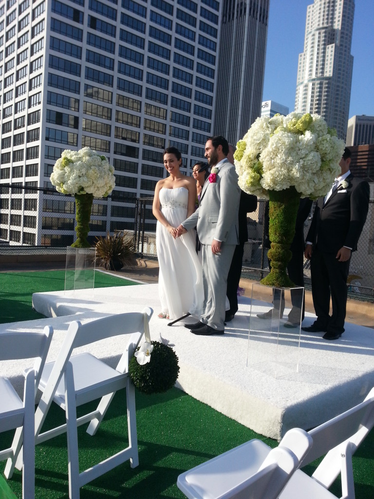 Rooftop wedding vows
