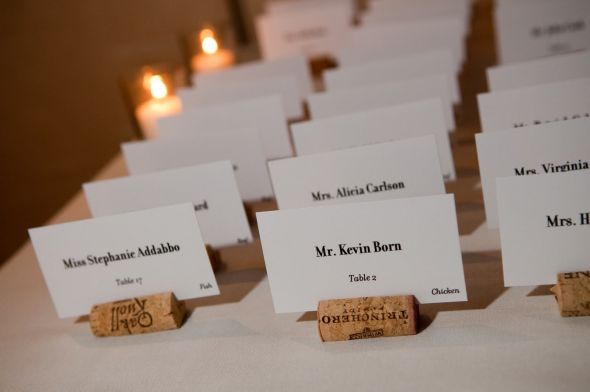 cork wedding place cards - Wedding Place Cards