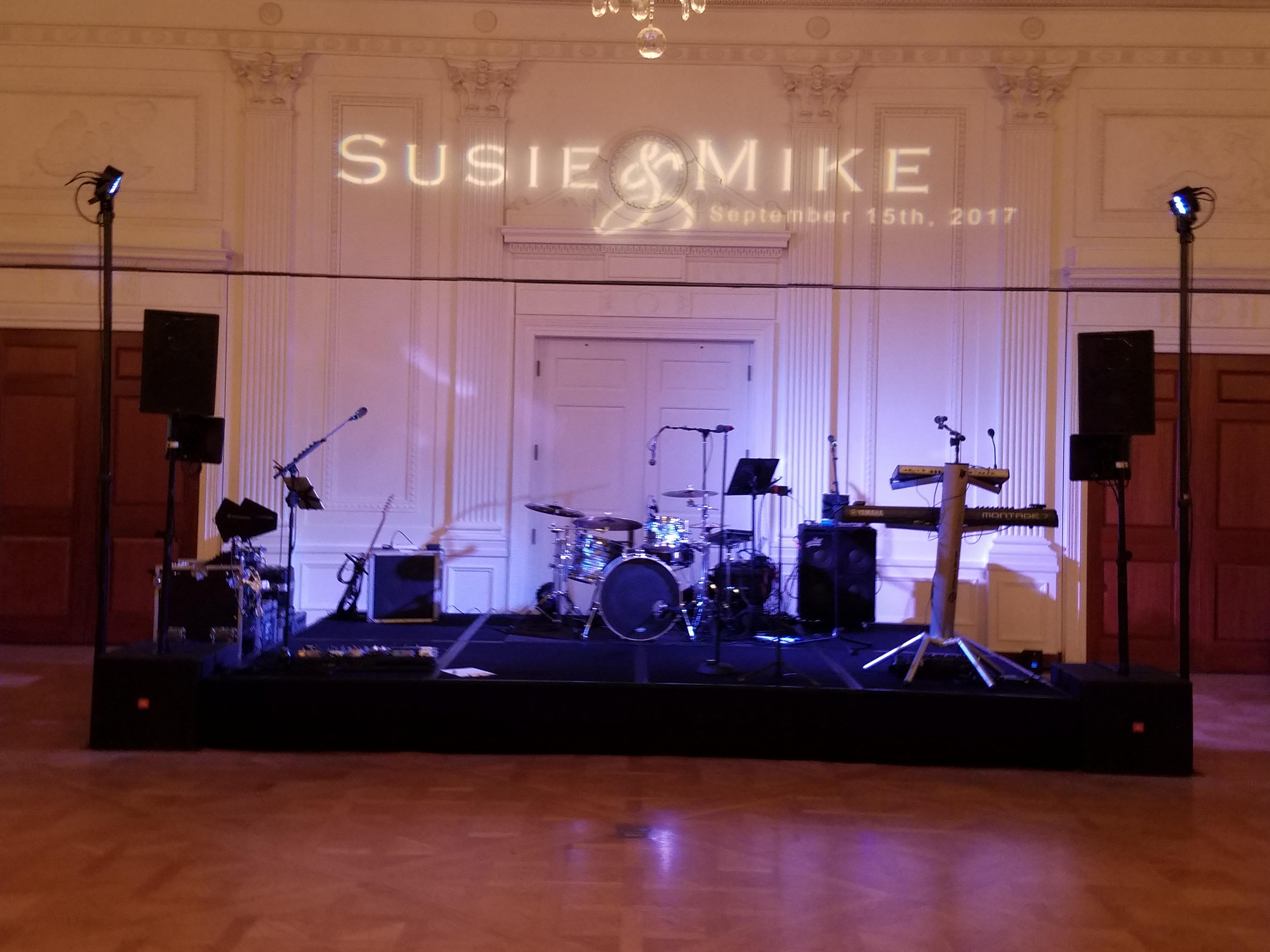 Susie and Mike's Nixon Library Wedding Entertainment was a Great Choice