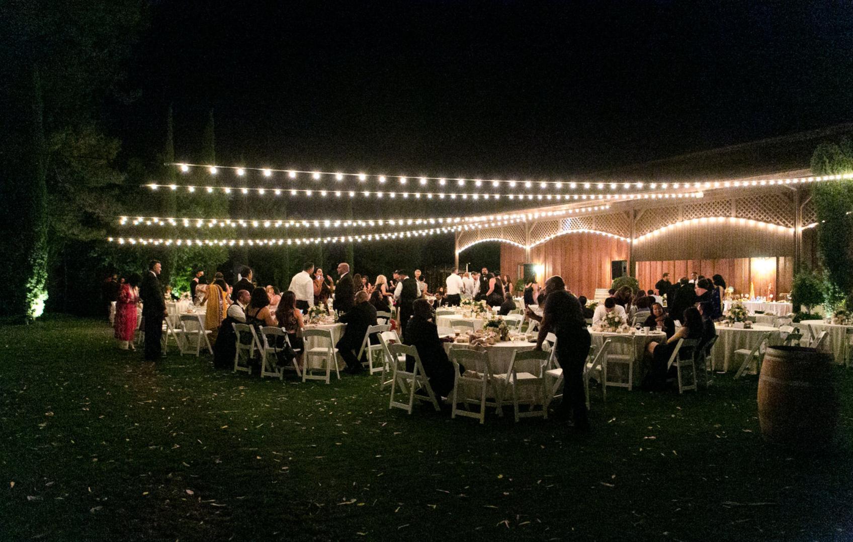 winery garden wedding